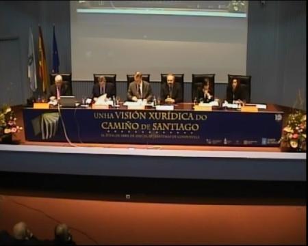 Inauguración. - Congreso sobre Unha Visión Xuridica do Camiño de Santiago